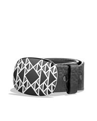 David Yurman | Black Belt Buckle With Nevada Silk Stone for Men | Lyst