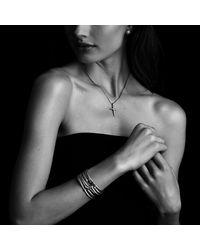 David Yurman - Metallic X Station Bracelet With Diamonds, 4mm - Lyst