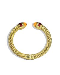 David Yurman | Yellow Renaissance Bracelet With Citrine And Rhodolite Garnet In 18k Gold, 8.5mm | Lyst
