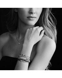 David Yurman   Metallic Petite Pavé Mini Loop Bracelet With Diamonds   Lyst