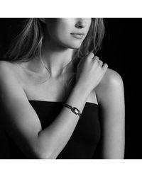 David Yurman - Albion Bracelet With Hematine And Black Diamonds, 12mm - Lyst