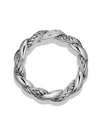 David Yurman | Metallic Belmont Curb Link Bracelet With Diamonds | Lyst