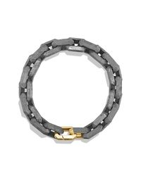 David Yurman | Metallic Meteorite Link Bracelet With 18k Gold for Men | Lyst