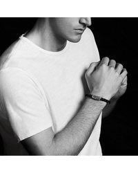 David Yurman - Brown Chevron Rubber Weave Bracelet With 18k Gold, 8mm for Men - Lyst