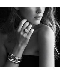 David Yurman - Metallic Waverly Bracelet With Diamonds And Gold - Lyst