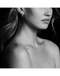 David Yurman - Metallic Pure Form Earrings With Diamonds, 15mm - Lyst