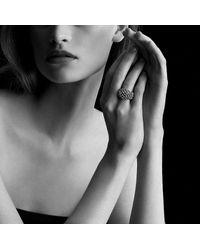 David Yurman - Metallic Osetra Dome Ring With Hematine And 18k Gold - Lyst