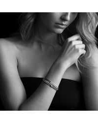 David Yurman | Metallic Labyrinth Double-loop Cuff Bracelet Bracelet With Diamonds In 18k Gold, 14mm | Lyst