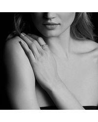 David Yurman - Metallic Crossover Ring With Diamonds In 18k Gold - Lyst