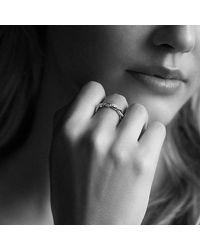 David Yurman | Metallic Dy Wisteria Twist Ring With Diamonds In 18k Rose Gold, 4mm | Lyst