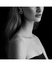 David Yurman   Châtelaine Pave Bezel Double Drop Earring With Black Orchid, Black Onyx And Diamonds   Lyst