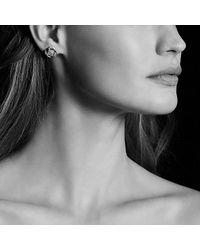 David Yurman | Metallic Crossover Earrings With Diamonds | Lyst
