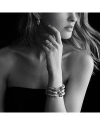 David Yurman - Metallic Sculpted Cable Large Hoop Earrings With Diamonds - Lyst