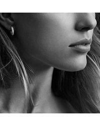 David Yurman | Purple Petite Pavé Huggie Hoop Earrings With Pink Sapphires | Lyst