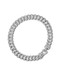David Yurman - Metallic Cable Buckle Chain Necklace With Diamonds - Lyst