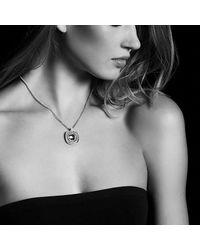 David Yurman - Metallic Chatelaine Pave Bezel Enhancer With Tanzanite And Diamonds In 18k White Gold, 26mm - Lyst