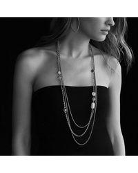 David Yurman - Bijoux Chain Necklace With Blue Topaz, Hampton Blue Topaz And Gray Diamonds - Lyst