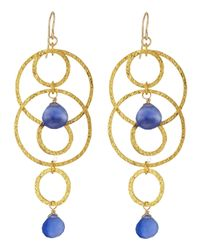 Devon Leigh - Blue Five-Circle Periwinkle Earrings - Lyst