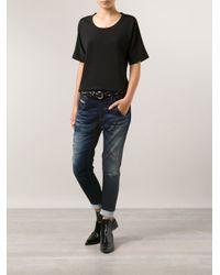 DIESEL - Blue Fayzane Sweat Jeans - Lyst