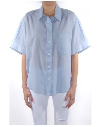Band of Outsiders - Blue Cotton Dressing Grandpa Shirt - Lyst