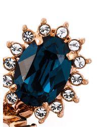 Mawi   Blue 'sapphire Slogan' Earrings   Lyst