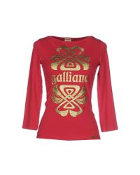 John Galliano | Red T-shirt | Lyst