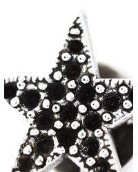 Saint Laurent | Black Star Pin | Lyst