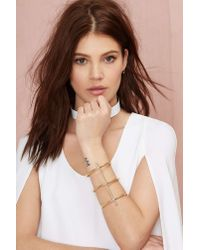 Nasty Gal | Metallic Off The Grid Metal Cuff | Lyst