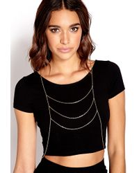 Forever 21 - Metallic Simply Stated Draped Bodychain - Lyst