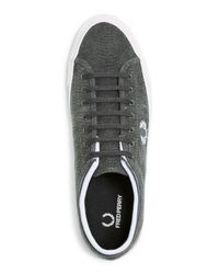 Fred Perry - Gray Kendrick Dyed Canvas Sneakers for Men - Lyst
