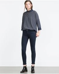 Zara | Blue Jeggings | Lyst