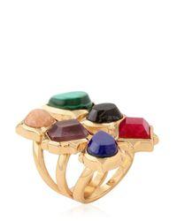 Isharya | Metallic Rani Rocks Ring | Lyst