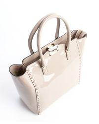 Valentino - Natural Light Lavender Leather Studded Detail Convertible Shoulder Bag - Lyst