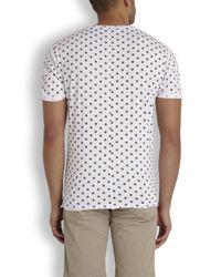 Villain - Bay White Polka Dot Cotton T-Shirt - Lyst