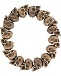 Alexander McQueen | Metallic Bronze Skull Bead Bracelet for Men | Lyst