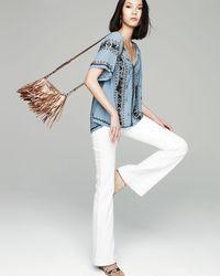 DL1961 - White Joy High-rise Flare Jeans - Lyst