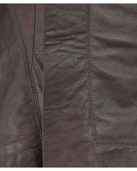 Rick Owens - Gray Charcoal Naska Tail Leather Biker Jacket - Lyst