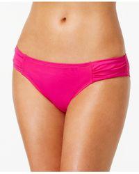 Tommy Bahama - Pink Side-tab Solid Hipster Bikini Bottom - Lyst