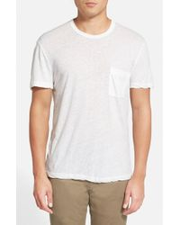 James Perse - White Slub Linen & Cotton T-Shirt for Men - Lyst