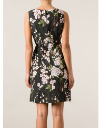 Dolce & Gabbana - Black Floral Print Dress - Lyst
