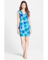 Plenty by Tracy Reese | Blue Sleeveless Pocket Shift Dress | Lyst