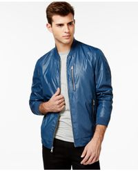 Sean John | Blue Bomber Jacket for Men | Lyst