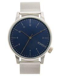 Komono - Blue 'winston' Round Dial Strap Watch for Men - Lyst