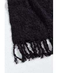 Urban Outfitters - Black Brushed Boucle Woven Scarf for Men - Lyst
