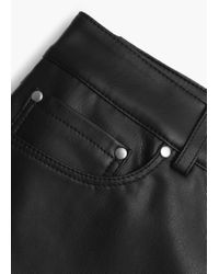 Mango | Black Zipped Hem Trousers | Lyst