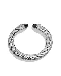 David Yurman - Waverly Bracelet With Black Onyx And Diamonds - Lyst