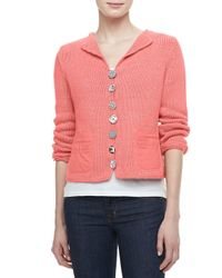 Pure Handknit - Pink Bay Breeze Multi-button Cardigan - Lyst