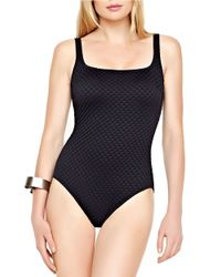 Gottex | Black Diamond In The Rough One-piece Swimsuit | Lyst