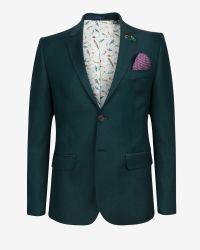 Ted Baker - Blue Tight Lines Wool Blazer for Men - Lyst