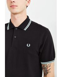 Stussy | Black Classic Twin Stripe Polo Shirt for Men | Lyst